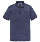 Vanguard Short sleeve polo cotton vintage s dark sapphire blauw