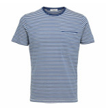 Selected Homme Tim tee - blauw