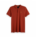Scotch & Soda Classic clean pique polo rood
