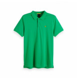 Scotch & Soda Classic clean pique polo groen