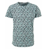 No Excess T-shirt s/sl, r-neck, ao printed, c dk seagreen blauw