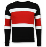 Enos Striped sweater mens rood
