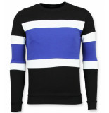 Enos Striped sweater mens blauw