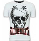 Golden Gate T shirts voor mannen wit