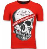 Golden Gate Tshirt h skull print wit
