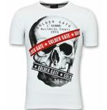 Golden Gate Te t shirts mannen slim fit wit