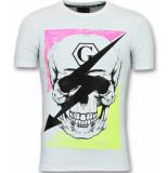 Golden Gate T shirt met doodskop mannen wit