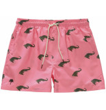 OAS Coral crocodile swimshorts roze