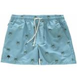 OAS Blue palm swimshorts blauw