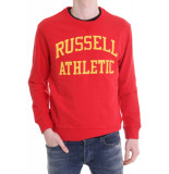 Russell Athletic Iconic tackle twill crewneck rood