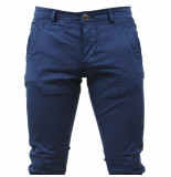 Paname Brothers Heren chino slim fit stretch john lengte 34 blauw
