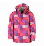 Color Kids Pink/paarse regenjas domas 10.000mm waterkolom blauw