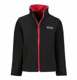Regatta Softhell jas met rood canto iii waterafstotend zwart