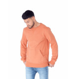 Influence Sweat with kangaroo pocket oranje