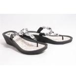 Pia Rossini Jael slippers zwart