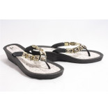 Pia Rossini Inis slippers zwart