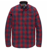 PME Legend Long sleeve shirt check pharrel chinese red rood