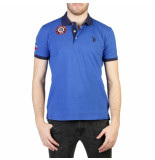 U.S. Polo Poloshirt emblem blauw