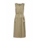 DIDI Midi jurk met streepdessin groen