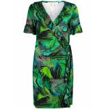 Tramontana Dress print greens groen