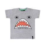 Beebielove Shirt korte mouw shark melee grijs