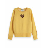 Maison Scotch Relaxed fit sweat with rock geel