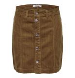 Jacqueline de Yong Jdykira button skirt pnt 15183800 golden brown bruin
