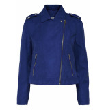 Jacqueline de Yong Jdyinu short faux suede jacket otw 15168643 surf the web blauw