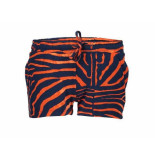 Geisha Shorts zebra blue/red navy blauw