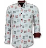 Gentile Bellini Getailleerde overhemden mannen