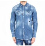 Dsquared2 2 camicia blauw