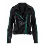 Vero Moda Lederlook jack zwart-groen