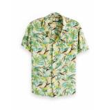 Scotch & Soda Hawaiian fit shirt geel