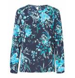 Vero Moda Longsleeve bloem blauw zwart