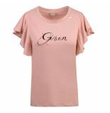 Given T-shirt dias roze