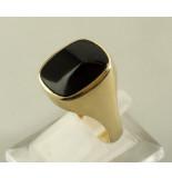 Atelier Christian 14 karaat gouden zegelring met onyx geel goud