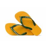 Havaianas Slipper brasis logo banana geel