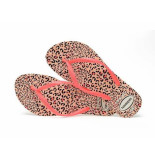 Havaianas Slipper slim animals leopard coral rood