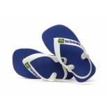 Havaianas Slipper brasil logo marine blu 4.1 blauw