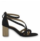 Tamaris Sandalen met blokhak studs zwart