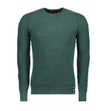 Superdry M61013nr garment crew up7 washed forest groen