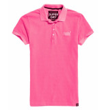 Superdry Cotton polo top g60141st roze