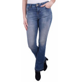 ZHRILL Leona flare blue jeans denim