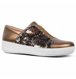 FitFlop F-sporty ii snake print sequin bruin