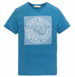 Cast Iron Ctss193302 5307 r-neck fine jersey slub vallarta blue blauw