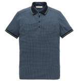 Cast Iron Cpss193554 5287 short sleeve polo coloured dot aop jersey dark sapphire blauw