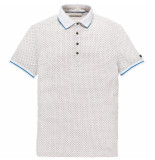 Cast Iron Cpss193554 910 short sleeve polo coloured dot aop jersey bone white melee wit