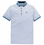 Cast Iron Cpss193504 5307 short sleeve polo jacquard 2 tone mercerized pique vallarta blue blauw