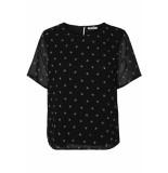 Pieces Pcbahara ss top 17096349 black/embroidery zwart