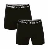 Muchachomalo Boys 2 pack boxer solid/solid zwart